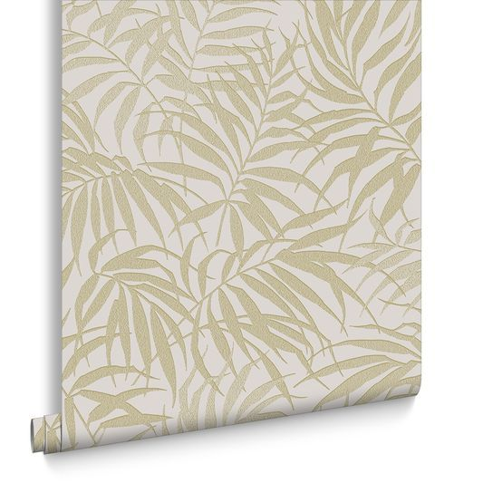 Tropic Beige and Gold Wallpaper