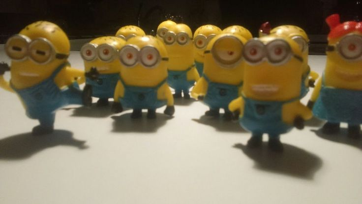 Set of 12Pcs Despicable me 2 Cute Minions Movie Character Figures Doll Toy Toys #Unbranded