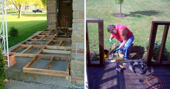 Manželský pár sa rozhodol, že si terasu pred domom zhotoví z drevených paliet. Výsledok je prekvapivo dobrý! Drevená terasa z paliet