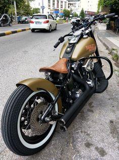 Harley fat boy bobber from xanthi hellas #HarleyDavidsonCustom #Harleydavidsonso…