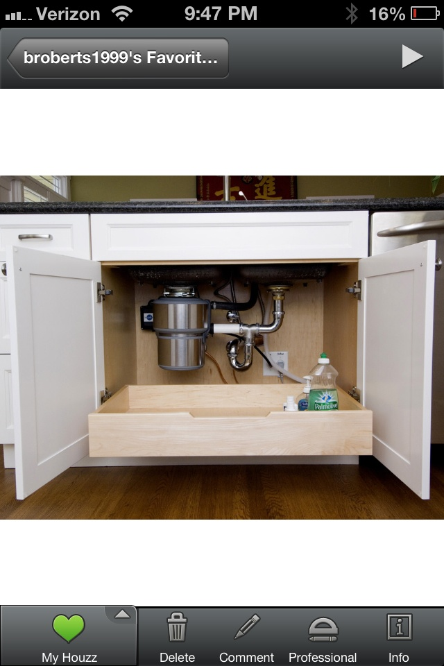 Under sink storage drawer if U shaped drawer can t fit in