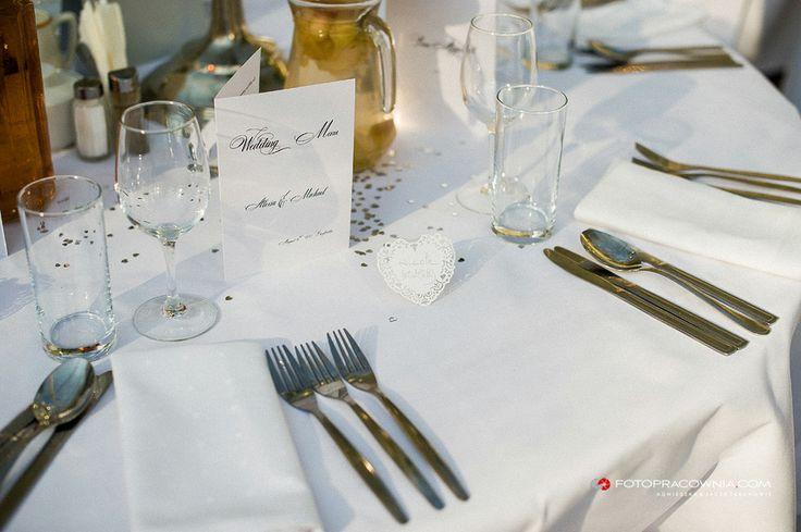 Dekoracja stołu srebro