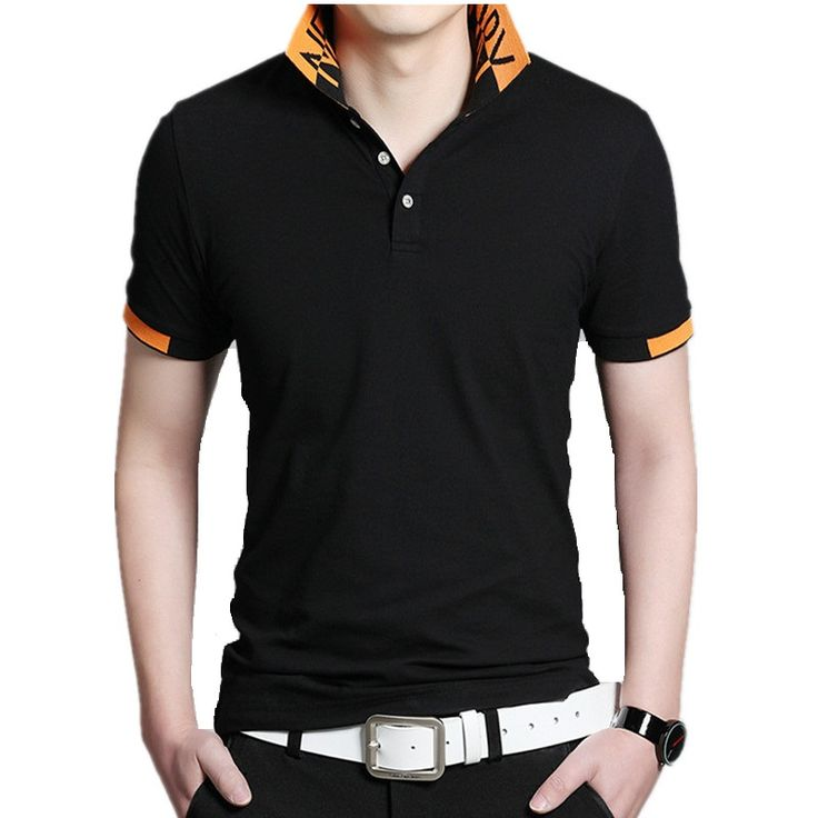 Men Solid Summer Polo Shirt Black Gray  Polo Shirts Short Sleeve Classic Fashion Mens Designer Polo Shirts Plus Size M-5XL