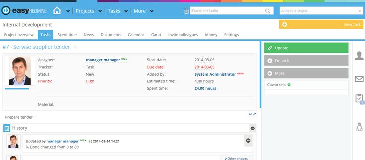 Easy Redmine Task Detail Theme http://www.easyredmine.com/