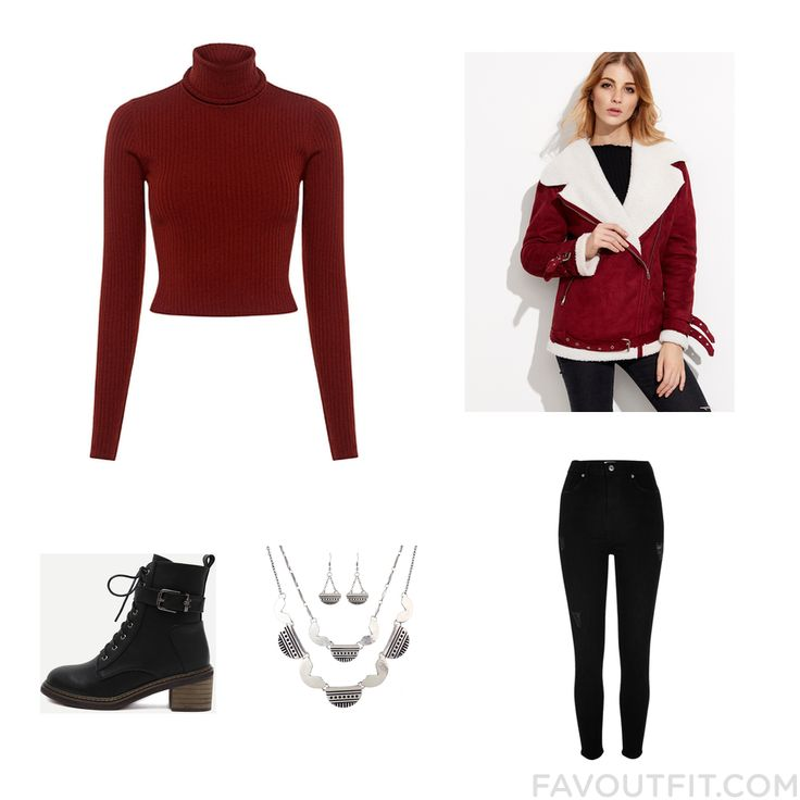 Street Style Stuff Including A.l.c. Sweater Collar Jacket River Island Jeans And Black Lace Up Boots From October 2016 #outfit #look