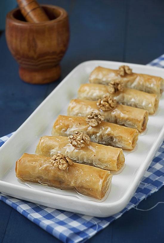 Baklava Rolls #greek #recipes