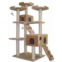 "72"" Cat Tree in Beige"