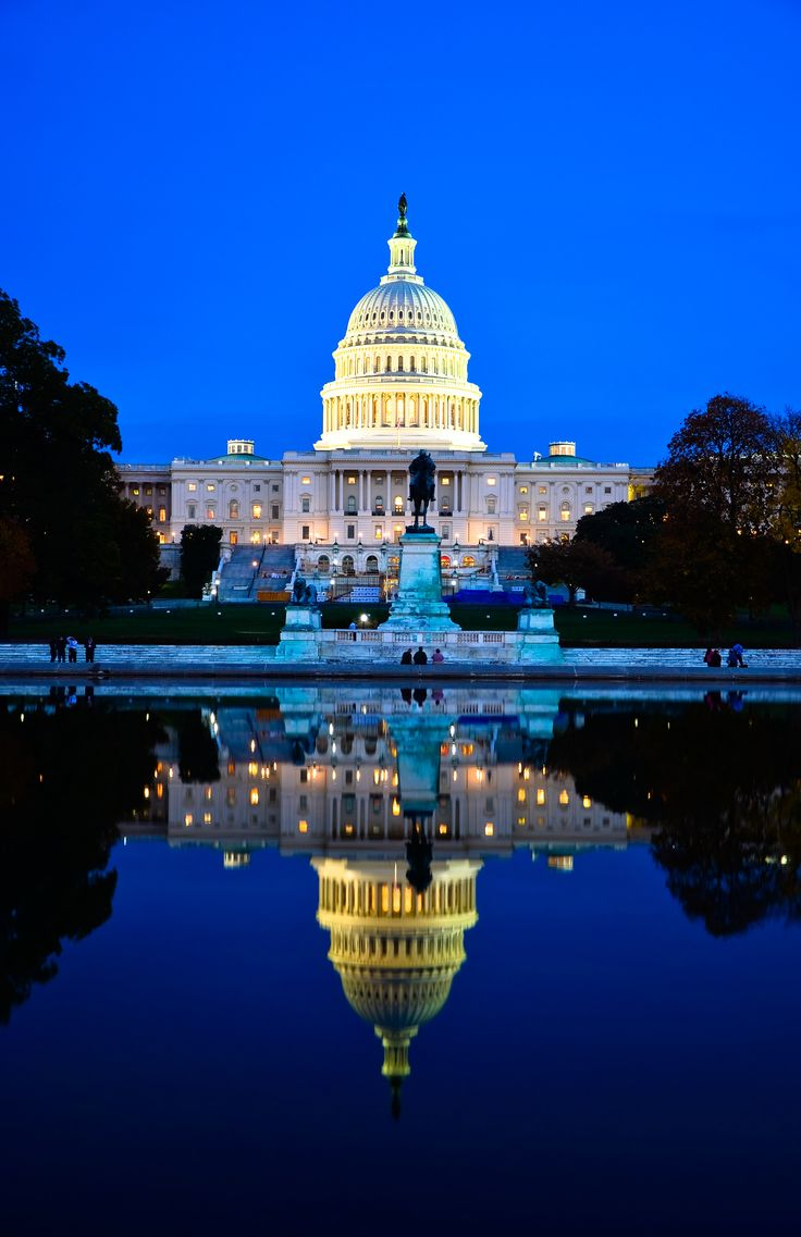 United States Capitol - On top of Capitol Hill in Washington DC, it is where the United States Congress meets.