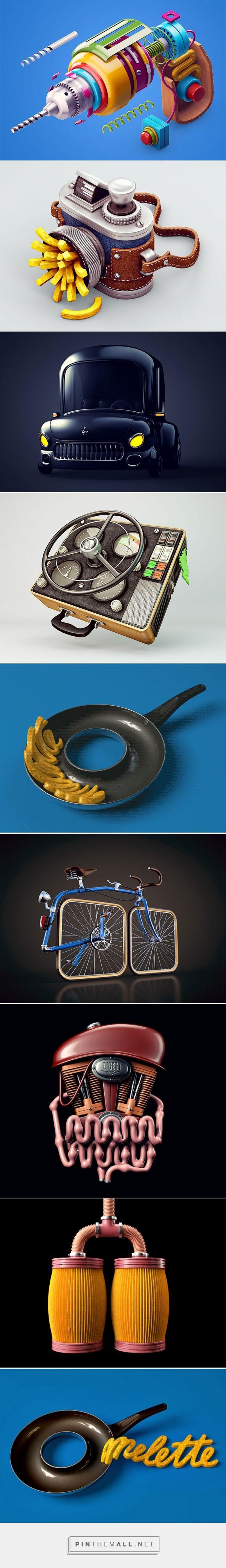 New 3D Artworks by Zhivko Terziivanov