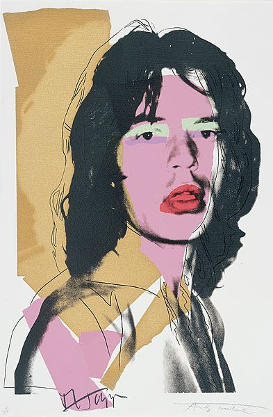 No. 1 fromMick Jagger1975 by Andy Warhol