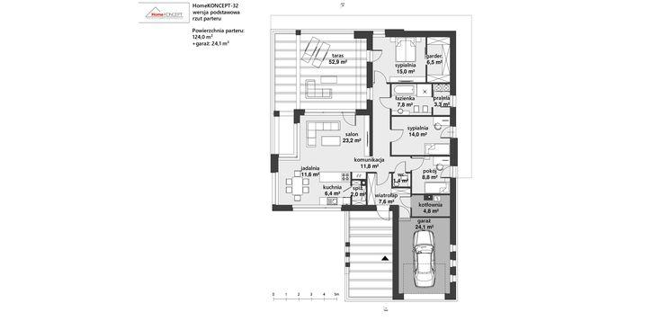 Projekt domu HomeKONCEPT 32 www.homekoncept.pl