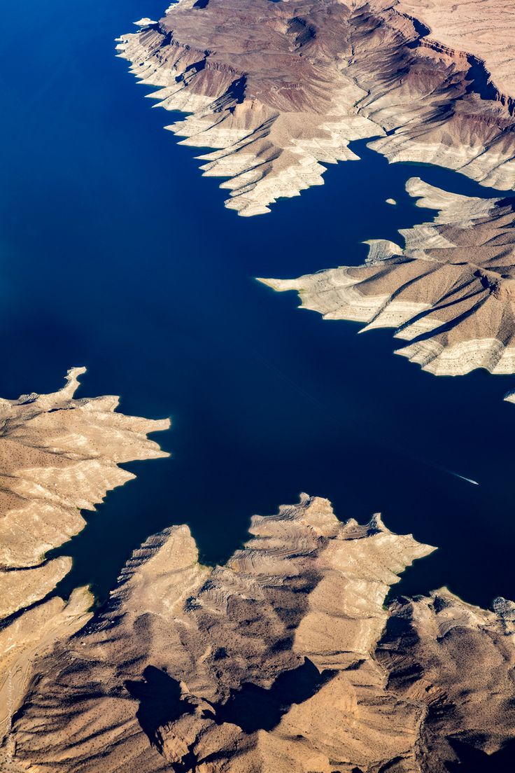 lake mead from above - Visit Stylishlyme.com to view amazing birds eye view photos of the Grand Canyon West Rim