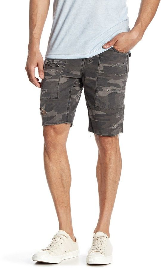 Rogue Distressed Camo Shorts