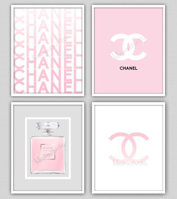 Wall Decor Print - Chanel - Chanel Print - Modern Home Decor - Chanel Perfume - Home Decor - COCO Chanel on Etsy, $55.00