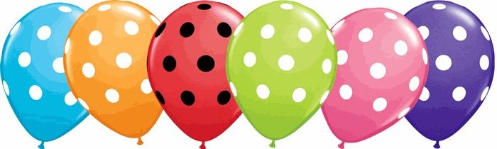 polka dot ballons