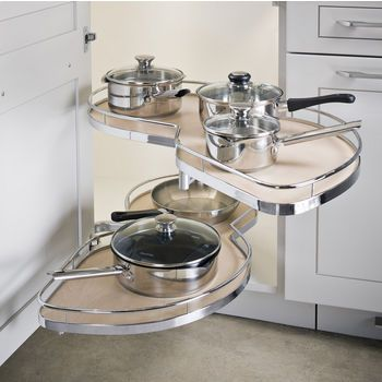 Lemans Ii Kitchen Blind Corner Organizers By Hafele