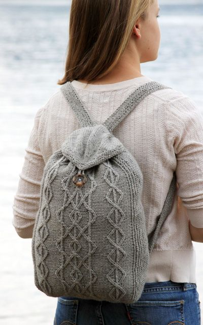 Love this crochet, knit style rucksack! Would be nice in baby pink. Wonder how waterproof it would be xx