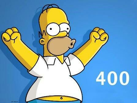 Thanks for 400