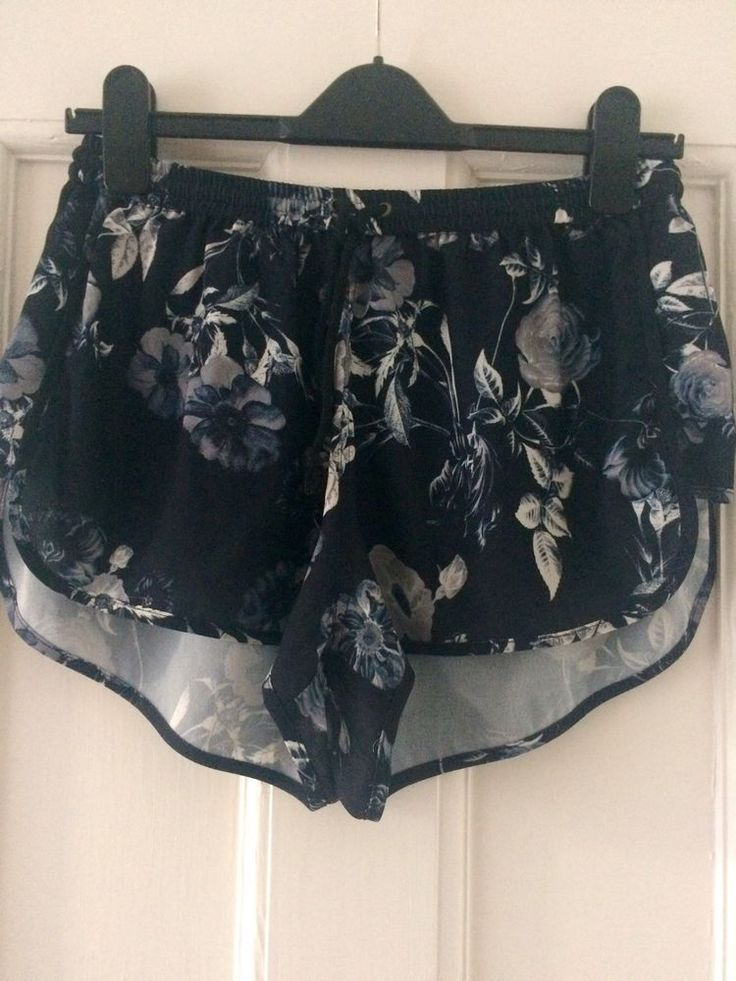 New The Fifth Black Floral Shorts Small Sample UK 8 10 Australia Harvey Nichols