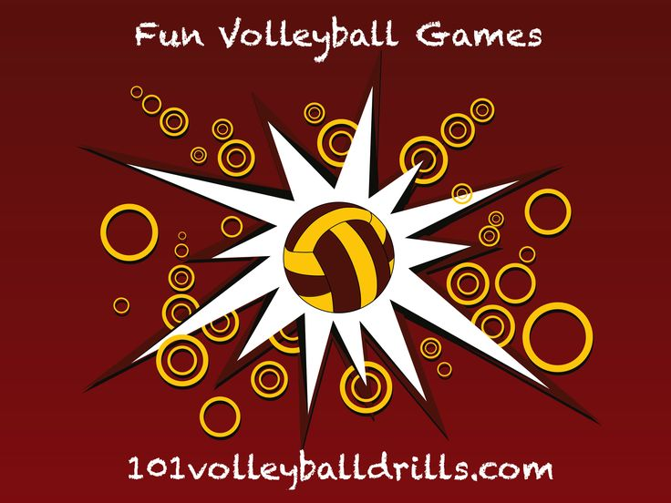 Fun volleyball games that will work on the fundamentals of volleyball.  Great for warm-ups, the end of practice, or for young volleyball players. #volleyball #funvolleyballgames
