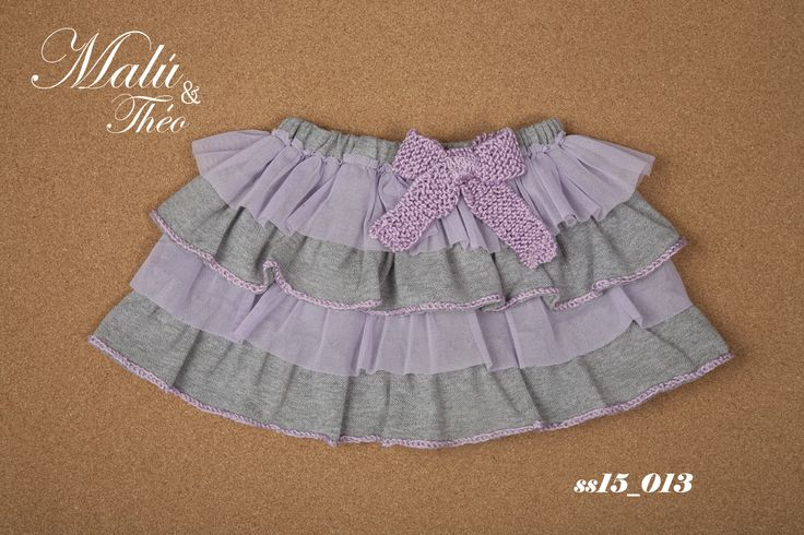 Pique-Tulle skirt with handmade bow - Italian Style