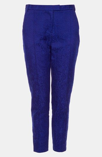 Topshop Jacquard Crop Cigarette Pants available at Nordstrom