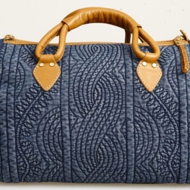 Denim Quilted Bag: