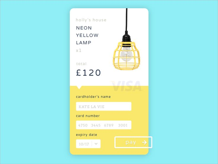 Daily UI #002 - Credit Card Checkout. If you like UX, design, or design thinking, check out theuxblog.com