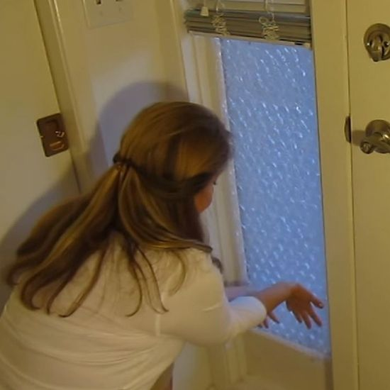 Beat the winter chills and save money on your electric bill with this window insulating hack!