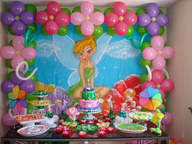 tinkerbell birthday ideas | tinkerbell party idea this a tinkerbell party table i designed for my ...
