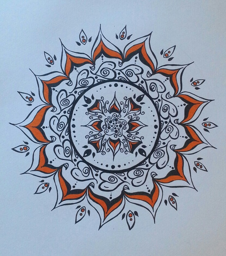 Mandala, Hand-drawn, Original, Ink on paper ... A3