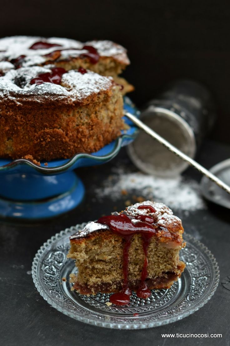 Torta grano saraceno, pere e marmellata