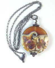 'Amber Ocean' pendant necklace