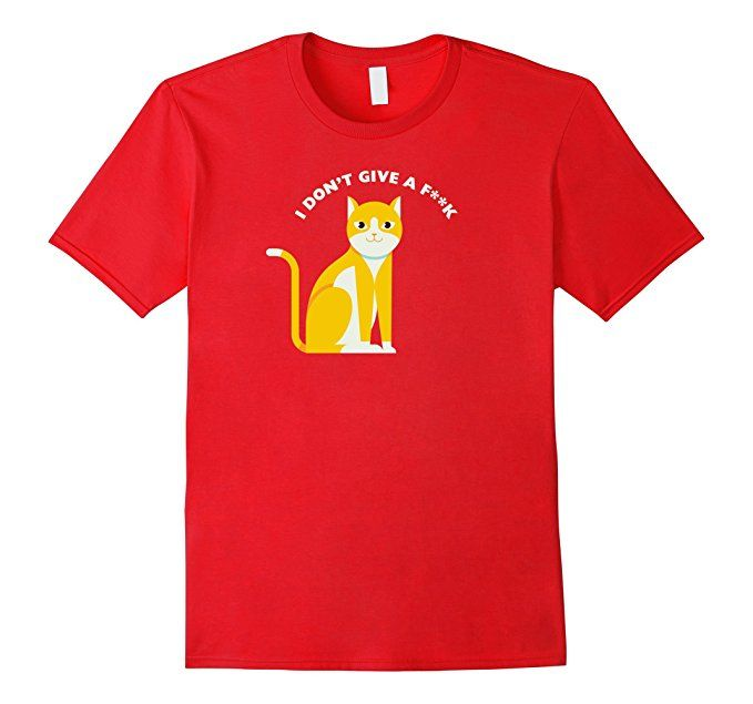 Amazon.com: Cats Don't Cares Pet Lover T-Shirt: Clothing