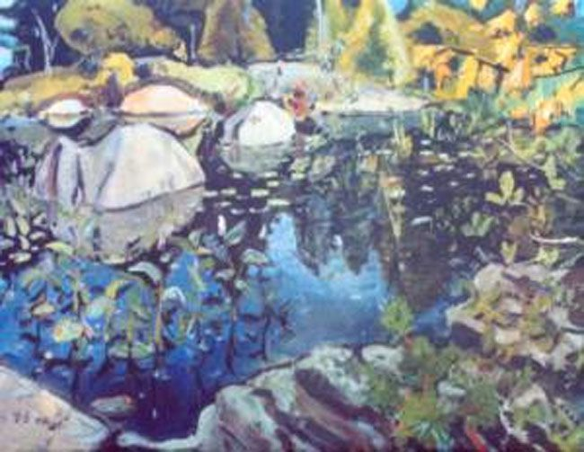 Arthur Lismer -Group of Seven-Lily Pond Georgian Bay