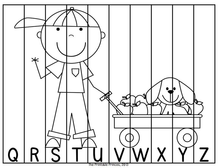 Fun puzzles to practice letter order! Includes color and black and white option!