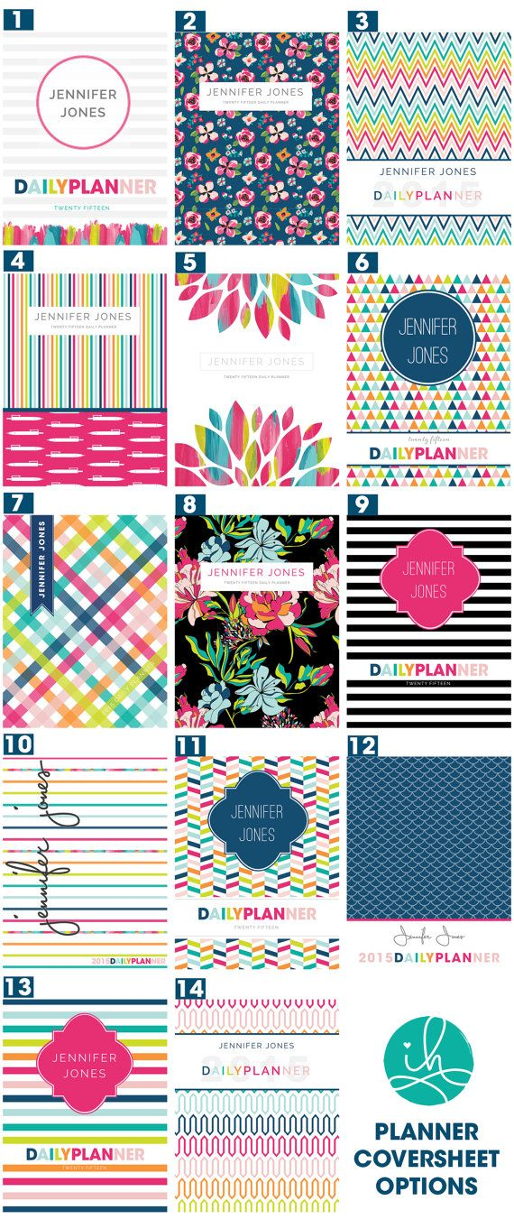Standard Size Personalized Daily Planner by IHeartOrganizing