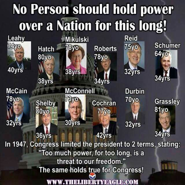Limit the !@#^%#)*@!!+?%$%# time they are allowed to spend being Congresspeople!