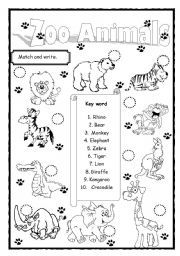 english worksheet zoo animals students pinterest english vocabulary worksheets and zoo. Black Bedroom Furniture Sets. Home Design Ideas