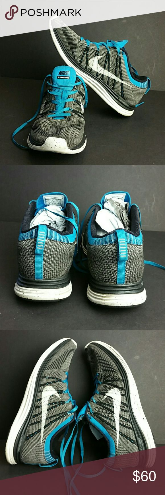 NIKE LUNAR FLYKNIT ONE MEN'S SHOES VERY CLEAN INSIDE-OUT   SKE # KU5 NIKE Shoes Athletic Shoes