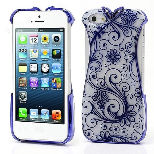 Wholesale PIZU Chinese Dress Cheongsam iPhone 5 Plastic Case Cover - Blue - iPhone 5 Hard Cases