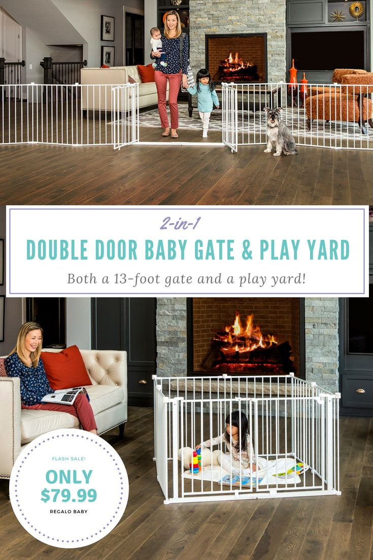 Double Door Super Wide Baby Gate And Play Yard Our Products