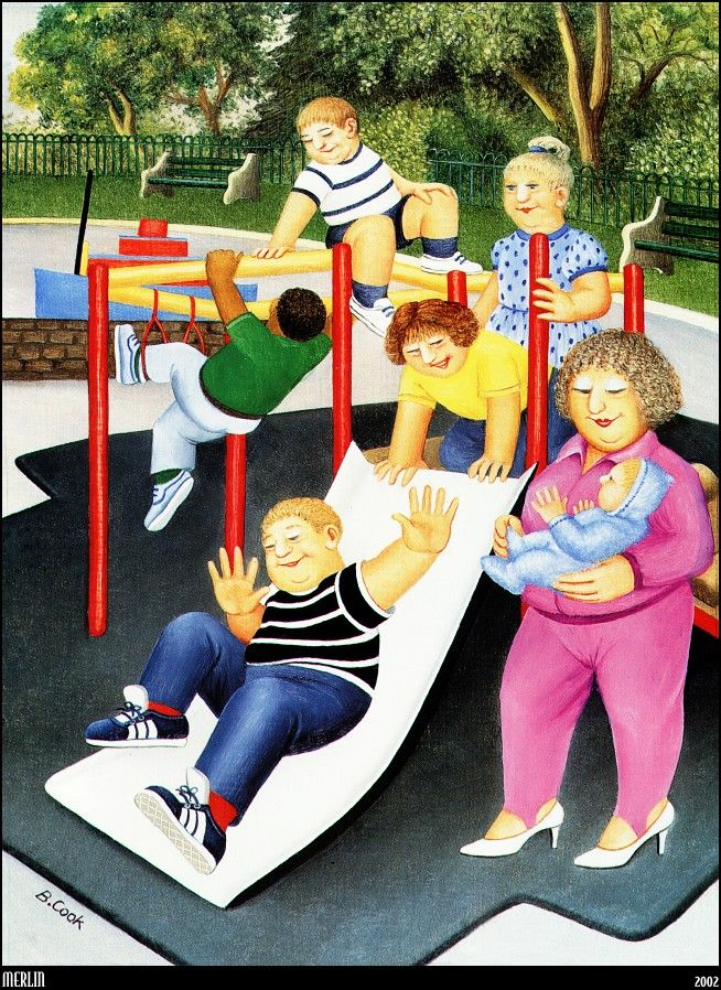Beryl Cook_Childrens Playground_mln