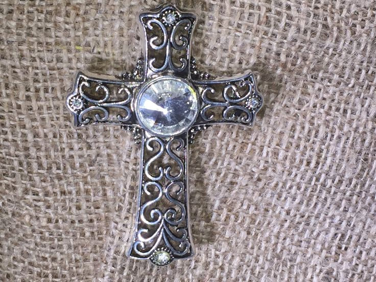 Silver Cross//Cross Jewelry//Key Holder//Cross Magnet//Attractable//Purse Jewelry by AttractablesICT on Etsy