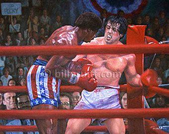Sylvester Stallone Rocky Balboa Apollo Creed art print 12 x 16
