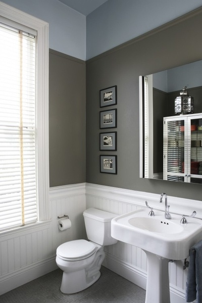 grey and blue small bathroom from house to home