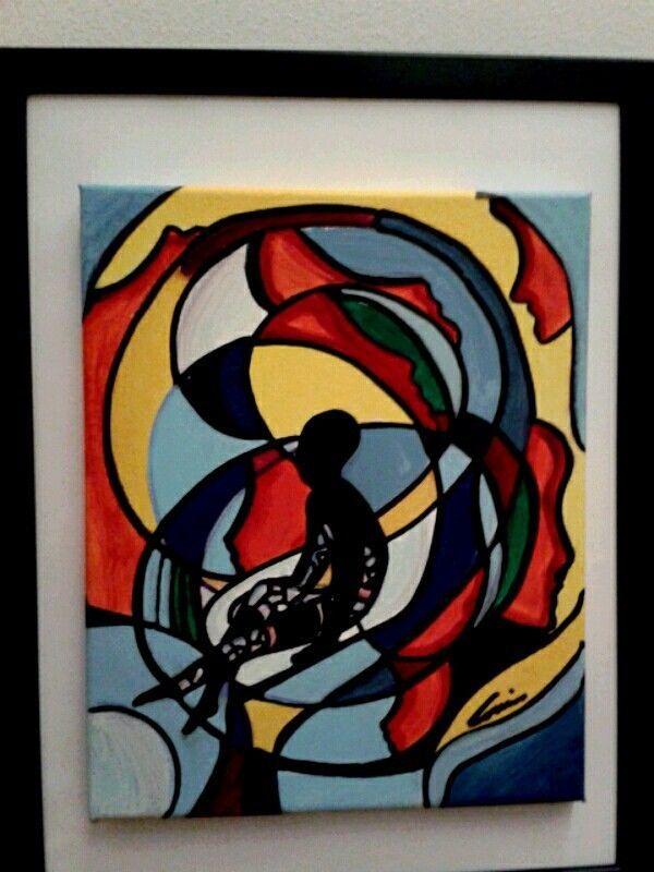 """COZZANI """"Sospensione dipinto astratto n Amadio Guttuso Crippa arte luxury 40%"""