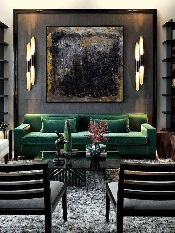 Extra Large Wall Art Abstract Painting Contemporary Abstract Living Room Designs Living Room Green House Design