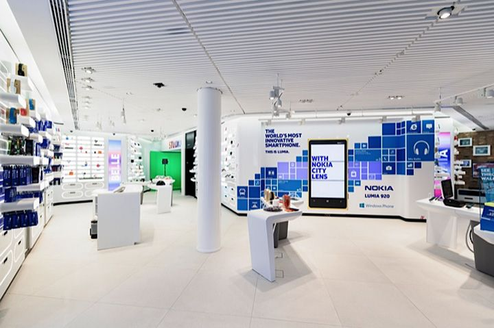 Phone Shop   Retail Design   Retail Display   Nokia flagship store Sundae Creative 1RetailProject Helsinki 03 Nokia flagship store by Sundae Creative & 1RetailProject, Helsinki