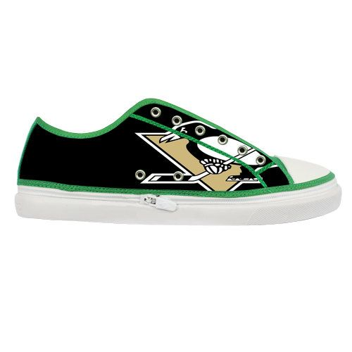 Pittsburgh Penguins Custom Canvas Shoes Women by LoveBeadsWorld